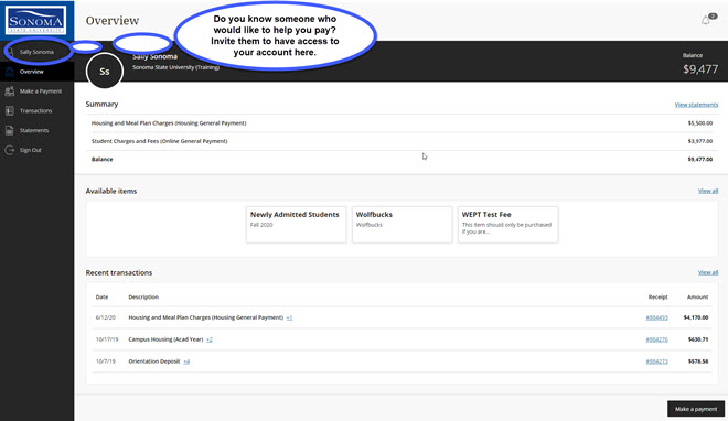 Example of Payment Site to add a Guest User.